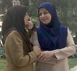 عکس دو نفري دو خواهر که مجري صدا و سيما هستند