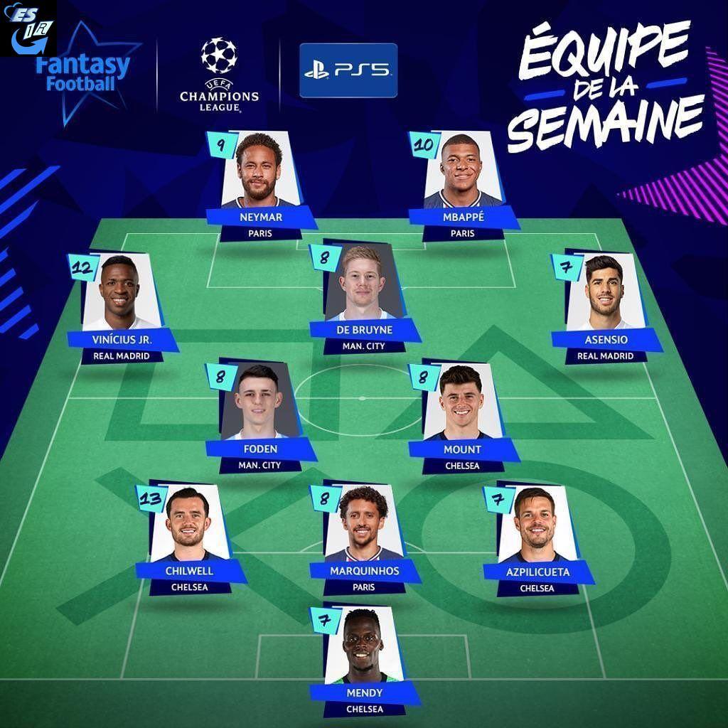 تیم منتخب یک چهارم اروپا