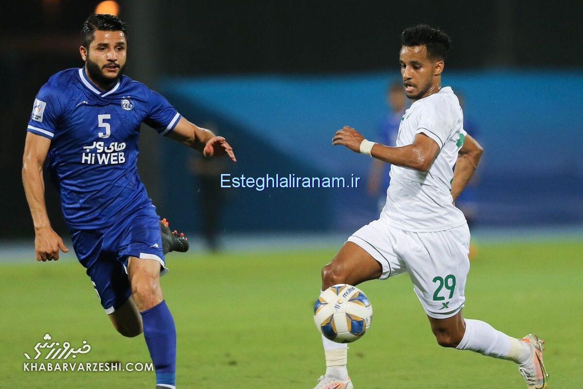 عارف غلامی پس از ۶۲ روز دوری از ترکیب تیم استقلال در دیدار با الاهلی به میادین برگشت