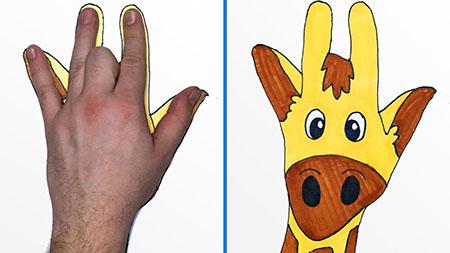 آموزش نقاشی کودکان باکمک دست