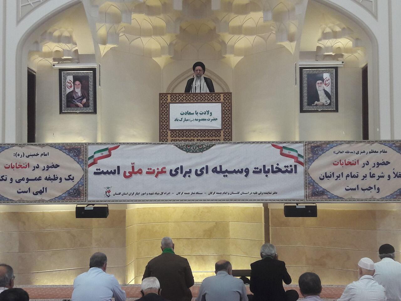 امام جمعه گرگان: مردم ایران به خاطر مشکلات، انقلاب را رها نمیکنند