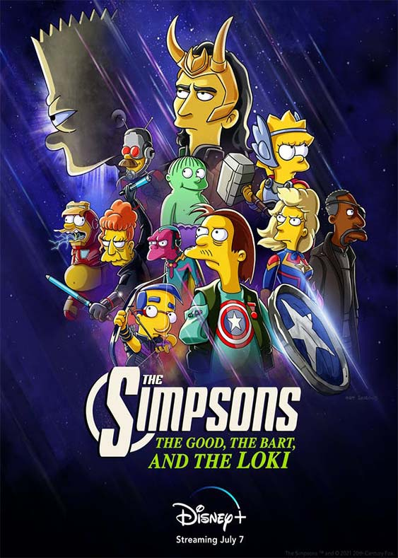 دانلود انیمیشن سیمپسون ها:خوب،بارت و لوکی 2021  The Simpsons:The Good, The Bart, and The Loki