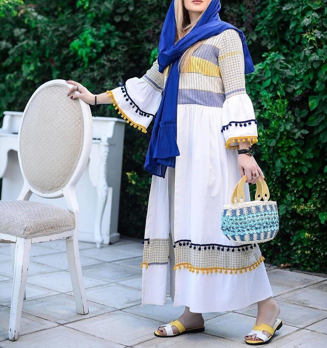 مدل مانتو تابستانی با پارچه نخی زنانه