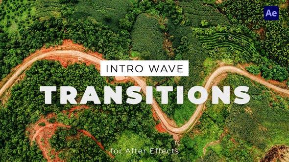 دانلود رایگان ترنزیشن های جدید افترافکت Intro Wave Transitions