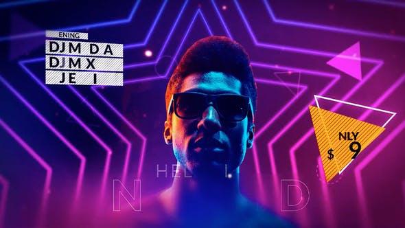 پروژه آماده رایگان پریمیر Neon Party Promo ۲۰۲۱