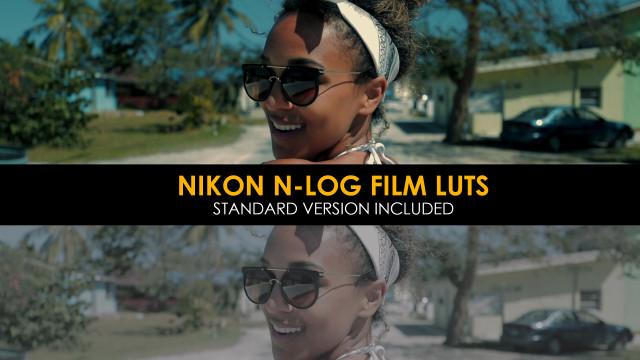 پک آماده پریست های رنگی جدید LUTS : Nikon N-Log Film And Standard Luts