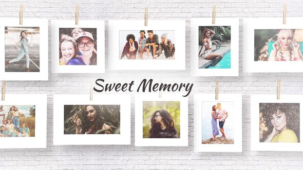 پروژه آماده افترافکت رایگانSweet memories Videohive