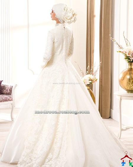 لباس عروس پوشیده 2015