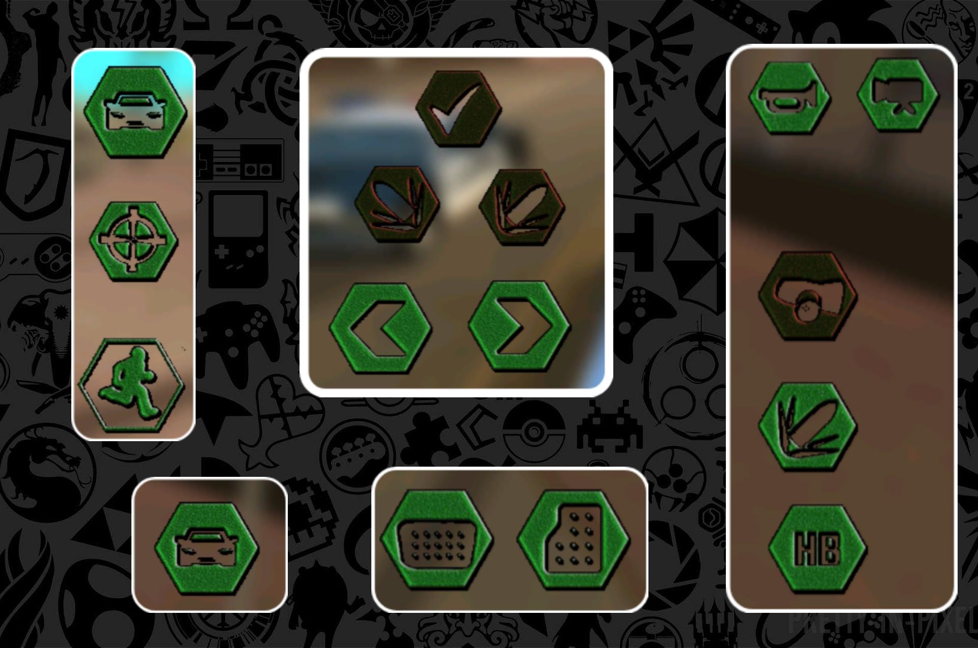 دانلود پک دکمه های سبز برای Gta:Sa اندروید