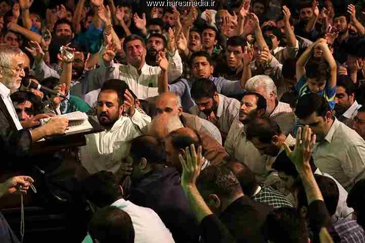 حاج منصور ارضی شب بیست و پنجم رمضان94 مسجد ارک
