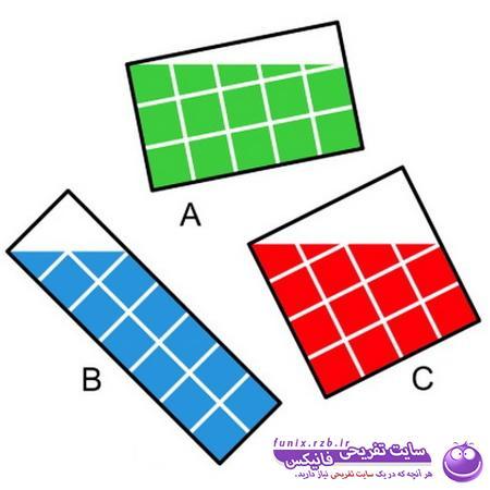 تست هوش: بیشترین مساحت رنگی
