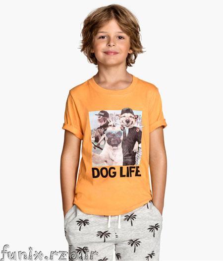 مدل پیراهن و تی شرت پسر بچه ها