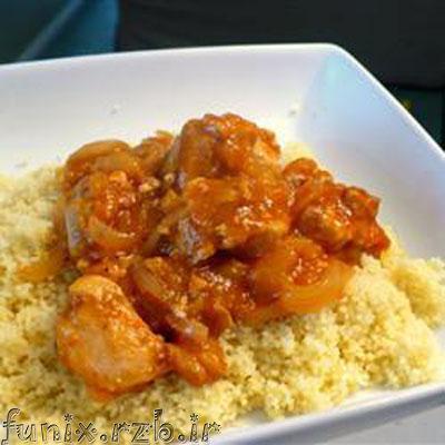 طرز تهیه پوره مرغ و برنج با زردآلو
