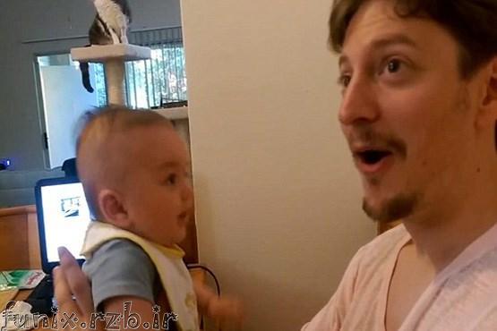 نوزادی که حرف میزند! + عکس