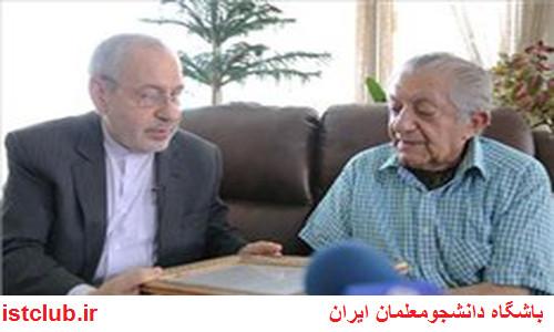 وزیر آموزش و پرورش به عیادت عزت الله انتظامی رفت