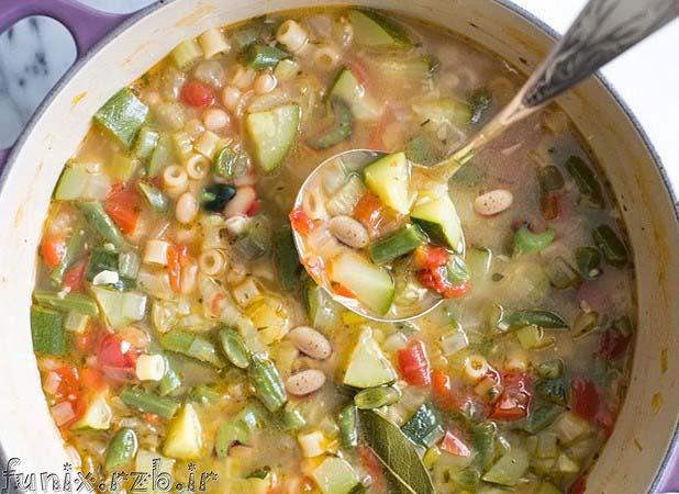 طرز تهیه سوپ ماکارونی مخصوص تابستان