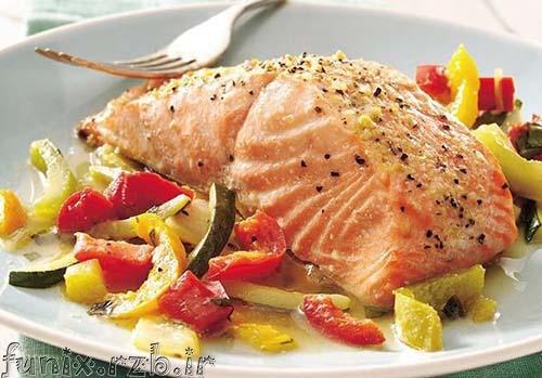طرز تهیه ماهی سالمون با چاشنی ریحان