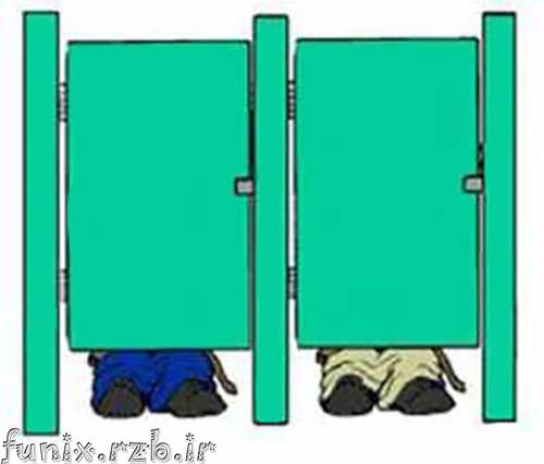 عکس العمل ها هنگام گیر کردن در توالت! (طنز)