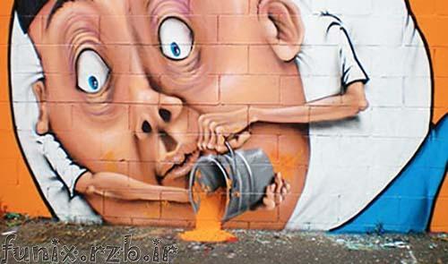نقاشی های زیبای خیابانی