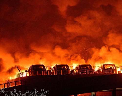 انفجار بی سابقه و مهیب در شمال چین