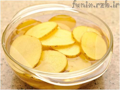 طرز تهیه چیپس سیب زمینی با مایکروویو