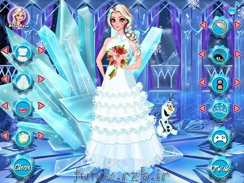 بازی آنلاین السا طراحی کامل لباس عروس