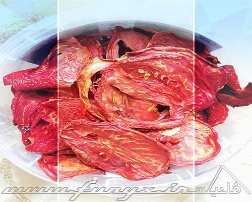 خشک کردن گوجه فرنگی با استفاده ماکروویو