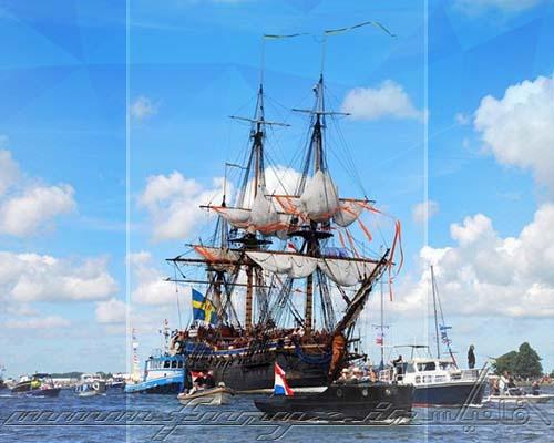 رژه پرازدحام سالیانه کشتی ها در آمستردام