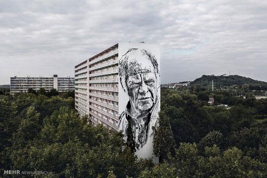 تصاویری از نقاشی های خیابانی غول پیکر