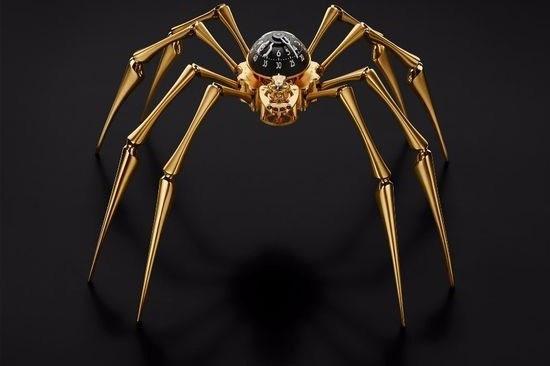ساعت عنکبوتی، ادای احترام به هنر مدرن